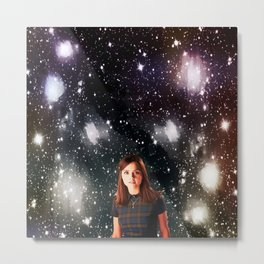 She Walked the Universe  Metal Print