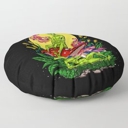 Aliens Magic Mushrooms Smoking Psychedelics Floor Pillow