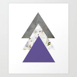 Ultra Violet Blossoms Arrows Art Print