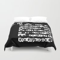 pi Duvet Covers featuring Bad Pi by mailboxdisco