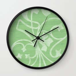 Rejas Green Wall Clock