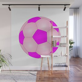 Pink And White Football Wall Mural