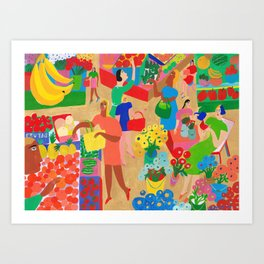 Market Colors Art Print