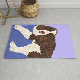 Tucker The English Springer Spaniel Dog - Design by Cheyney Rug