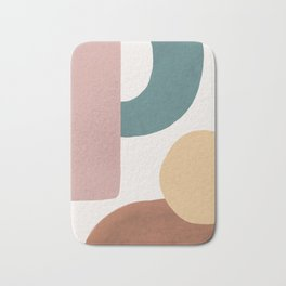 Abstract Earth 1.2 - Painted Shapes Bath Mat