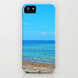 Perce Beach panoramic iPhone Case