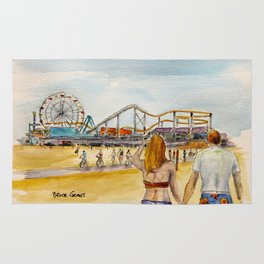Santa Monica Pier Ferriswheel Rug