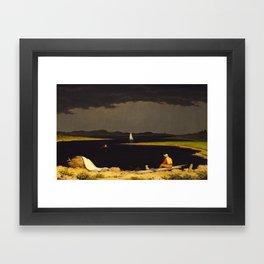 Approaching Thunder Storm by Martin Johnson Heade, 1859 Framed Art Print
