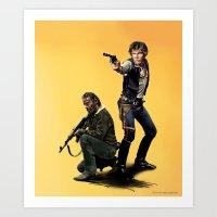 Walking Star Dead 1 Art Print