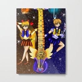 Fusion Sailor Moon Guitar #23 - Sailor Venus & Sailor Uranus Metal Print