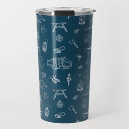 Simple Camping blue Travel Mug