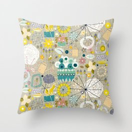 gardening blooms Throw Pillow