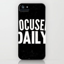 Focused Daily iPhone Case