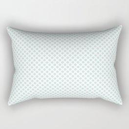 Moonlight Jade Polka Dots Rectangular Pillow