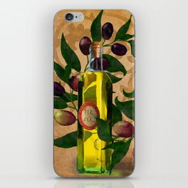 Olives and Italian Olive Oil iPhone Skin