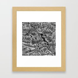 black flow Framed Art Print