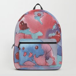 Abstract watercolor art Backpack