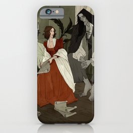 Mary Shelley and Her Creation iPhone Case