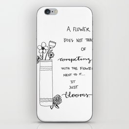 Competing Flowers iPhone Skin