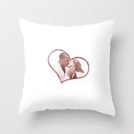 April and Jackson Throw Pillow