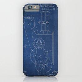 Original patent blueprint iPhone Case