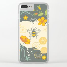 Little Bee and Buttercups Clear iPhone Case
