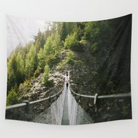 bridge Wall Tapestries featuring Bridge by Alex Broadstock
