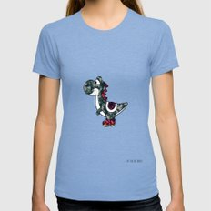 Yoshi  Tri-Blue Womens Fitted Tee MEDIUM