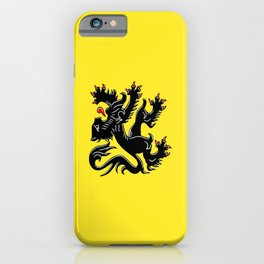 Flag of Flanders - Belgium,Belgian,vlaanderen,Vlaam,Oostende,Antwerpen,Gent,Beveren,Brussels,flamish iPhone Case