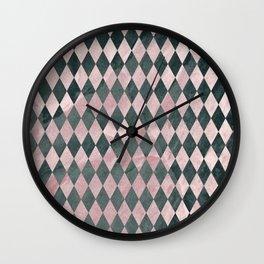 Marble Harlequin Wall Clock