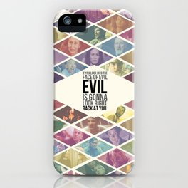 American Horror Story: Asylum Ensemble - If You Look Into the Face of Evil Its Gonna Look Right Back iPhone Case
