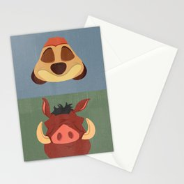 Timon and Pumbaa Stationery Cards