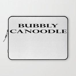 Bubbly Canoodle Black Laptop Sleeve