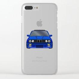 M3 E30 Blue Clear iPhone Case