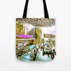 Kings Cross Station London Pop Art Tote Bag