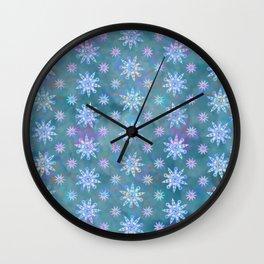 Mela's Sense of Snow Wall Clock