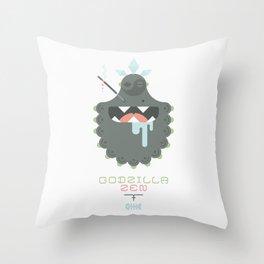 Godzilla Zen (Japan Contrasts series) Throw Pillow