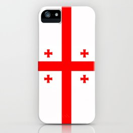 Georgia country flag iPhone Case