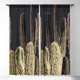Night Cactus Blackout Curtain