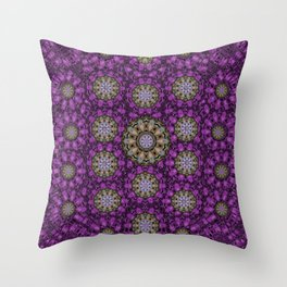 ornate heavy metal stars in decorative bloom Throw Pillow