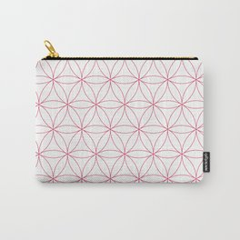 Clarity - Flower of Life Pattern White Carry-All Pouch