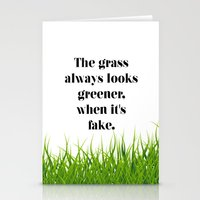 grass Stationery Cards featuring GRASS by C O R N E L L