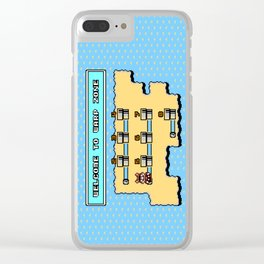 Welcome To Warp Zone Clear iPhone Case