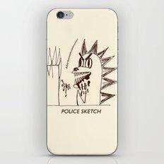 Aberdeen - dinosaur police sketch iPhone & iPod Skin