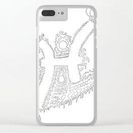 Pisces Unbroken Line Art Clear iPhone Case