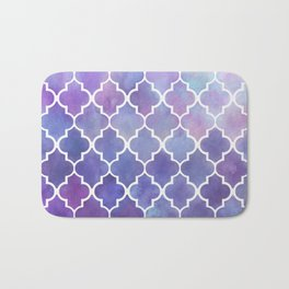 Purples & Pinks Watercolor Moroccan Pattern Bath Mat