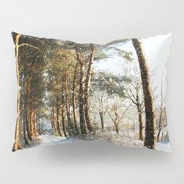 Forest Snow Scene Pillow Sham