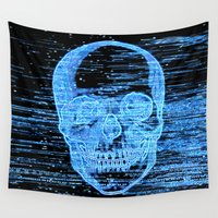 tv Wall Tapestries featuring tv horror by KrisLeov