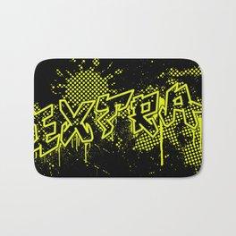 extra splash black and yellow grafitti design Bath Mat