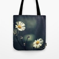daisy Tote Bags featuring Daisy by Pascal Deckarm Fine Art